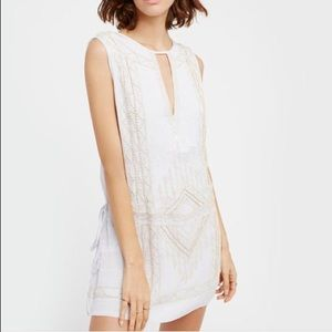 Free People Beaded Love Story Mini Dress